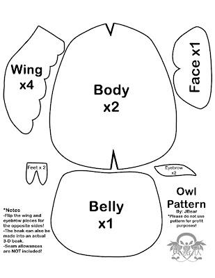 JWo Designs: Owl pattern & Tutorial