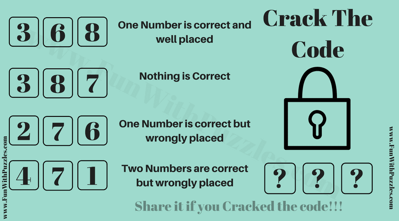 Crack the Code Puzzle with Solution-Brain Teasers Puzzles ...