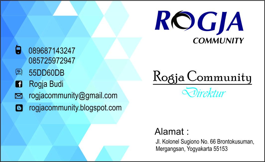 Desain Kartu Nama 1 box 1 muka ~ ROGJA COMMUNITY