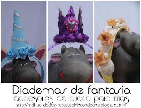 Diademas de fantasía para niñas