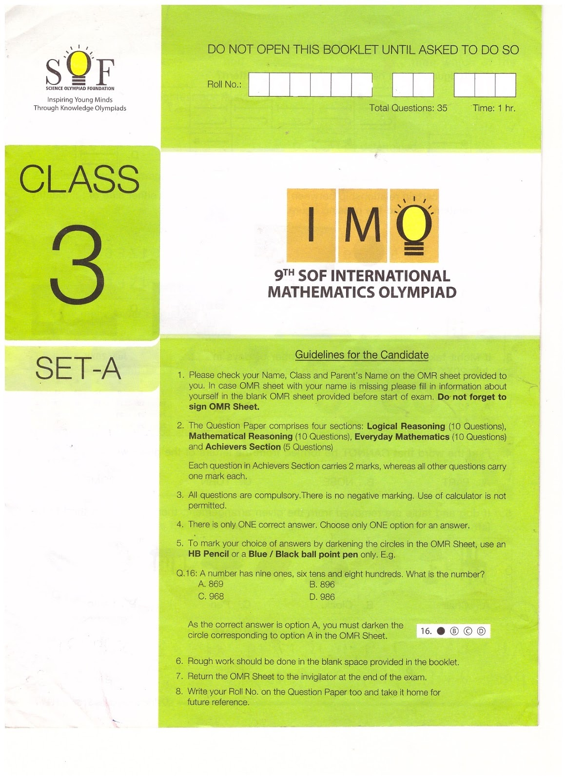 Math Olympiad Worksheets 2016 2018 | Printable Worksheets and