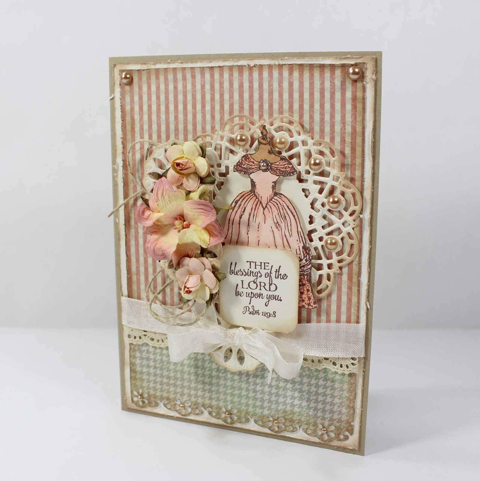 Stamps - Our Daily Bread Designs Victoria, Doily Blessings, ODBD Soulful Stitches Paper Collection, ODBD Custom Doily Dies.