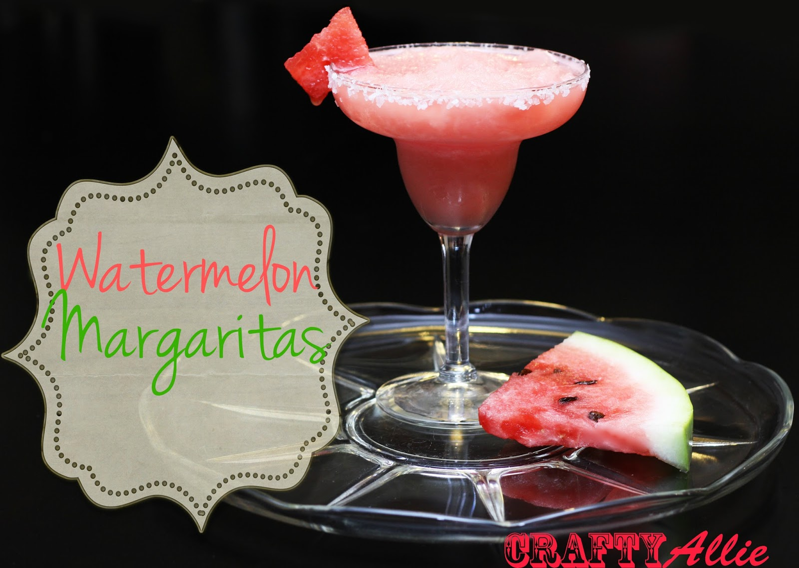 Watermelon margarita - Crafty Allie