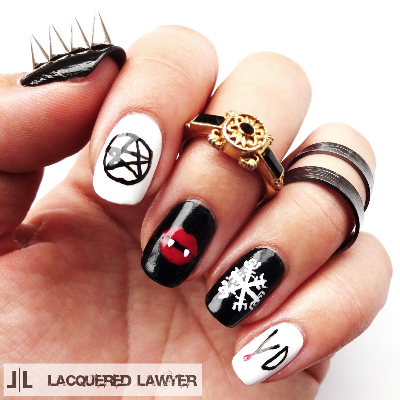 Vampire Nail Polish: Nail Art Blog: The Vampire Diaries