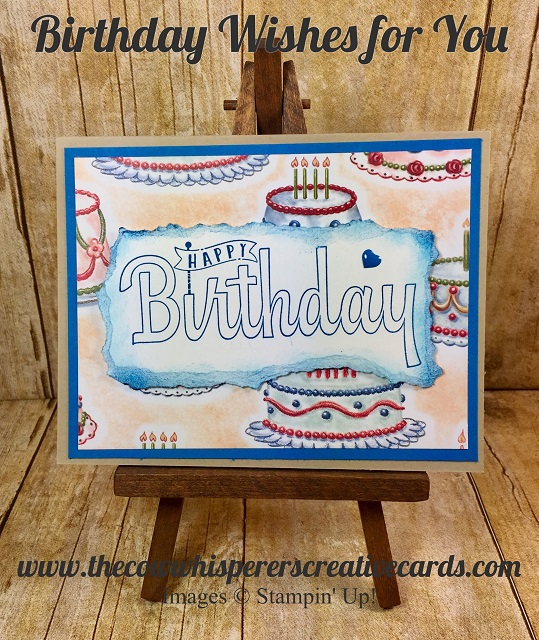 Card, Birthday Wishes for You, Clean & Simple, Stampin UP,