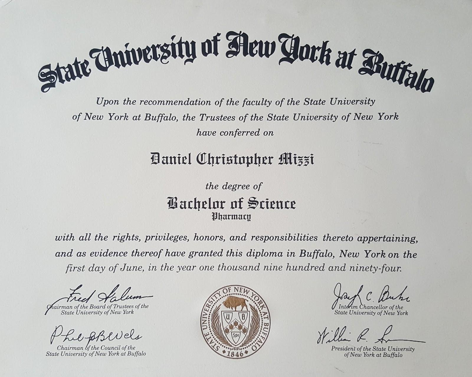 Daniel C. Mizzi, Pharm.D.: CV/Professional Experience