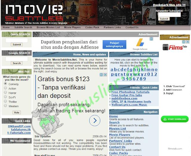 Situs Download Subtitle Top Indonesia, Terbaik dan Gratis