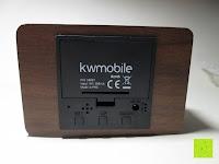 Rückseite: kwmobile Wecker Digital Uhr aus Holz mit Geräuschaktivierung, Temperaturanzeige und Tastaktivierung