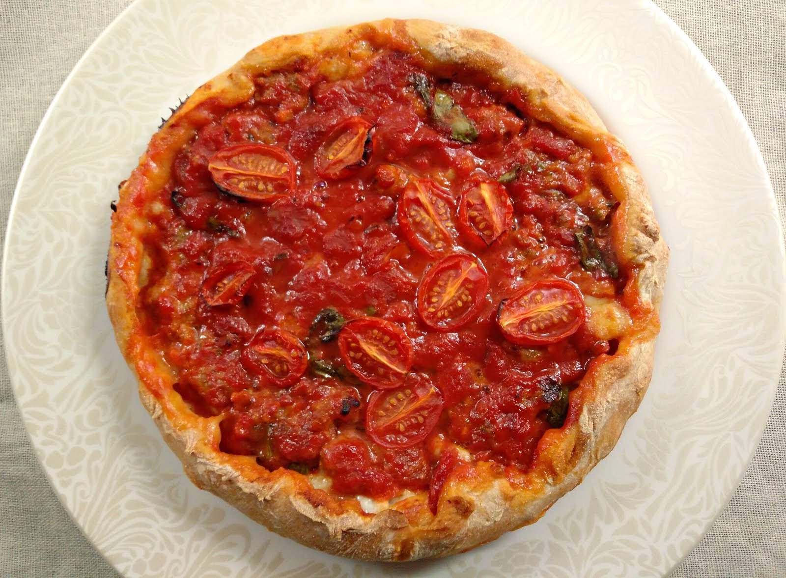 Chicago Style Pizza with Spicy Sausage recipe