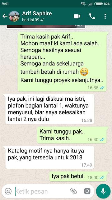Testimoni Pak Arief - Shunda Plafon Purwokerto