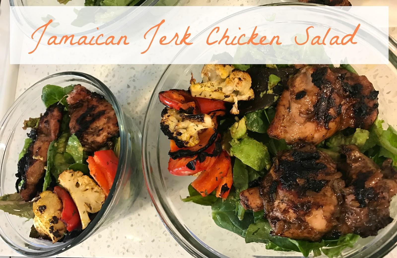 Jerk Chicken Spring Mix Salad Jaemie Sures Blog