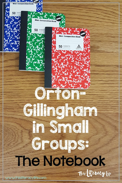 Orton-Gillingham instruction must be practiced! And a great way to do that is with the Orton-Gillingham notebooks. See how they work in a small group setting!