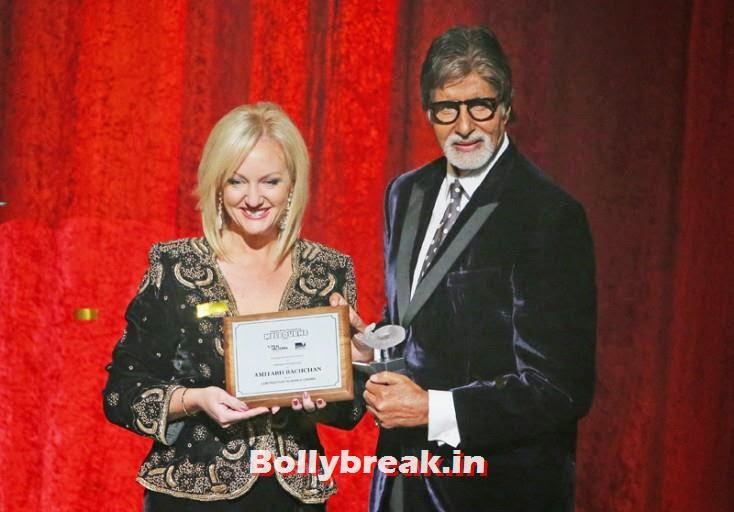 Heidi Victoria presents Amitabh Bachchan with the International Screen Icon Award, Kangana Ranaut & Amitabh Bachchan at the Indian Film Festival of Melbourne Awards