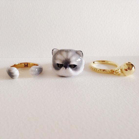Anel triplo tema animal,  anel bichinhos