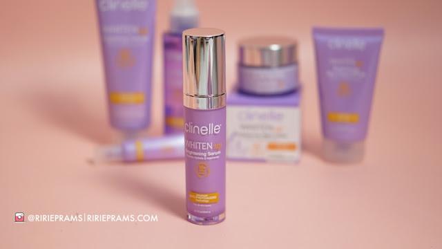 review skincare mencerahkan kulit Clinelle Whiten Up Brightening Series