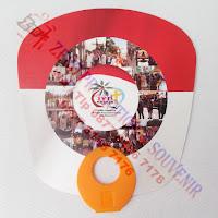 Kipas Promosi, souvenir kipas plastik pvc, Kipas PVC Gagang Bulat, Kipas Gagang Jari, Kipas Gagang Bolong