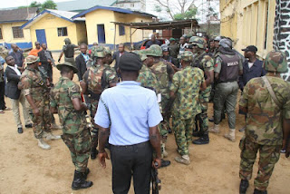 Drama As Soldiers Threaten To Shoot Governor Nyesom Wike