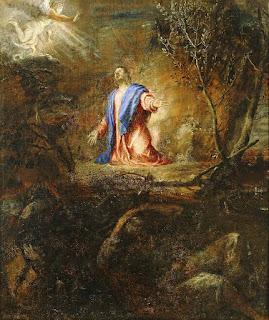 Tiziano - Oración en el Huerto (El Escorial) - c. 1561