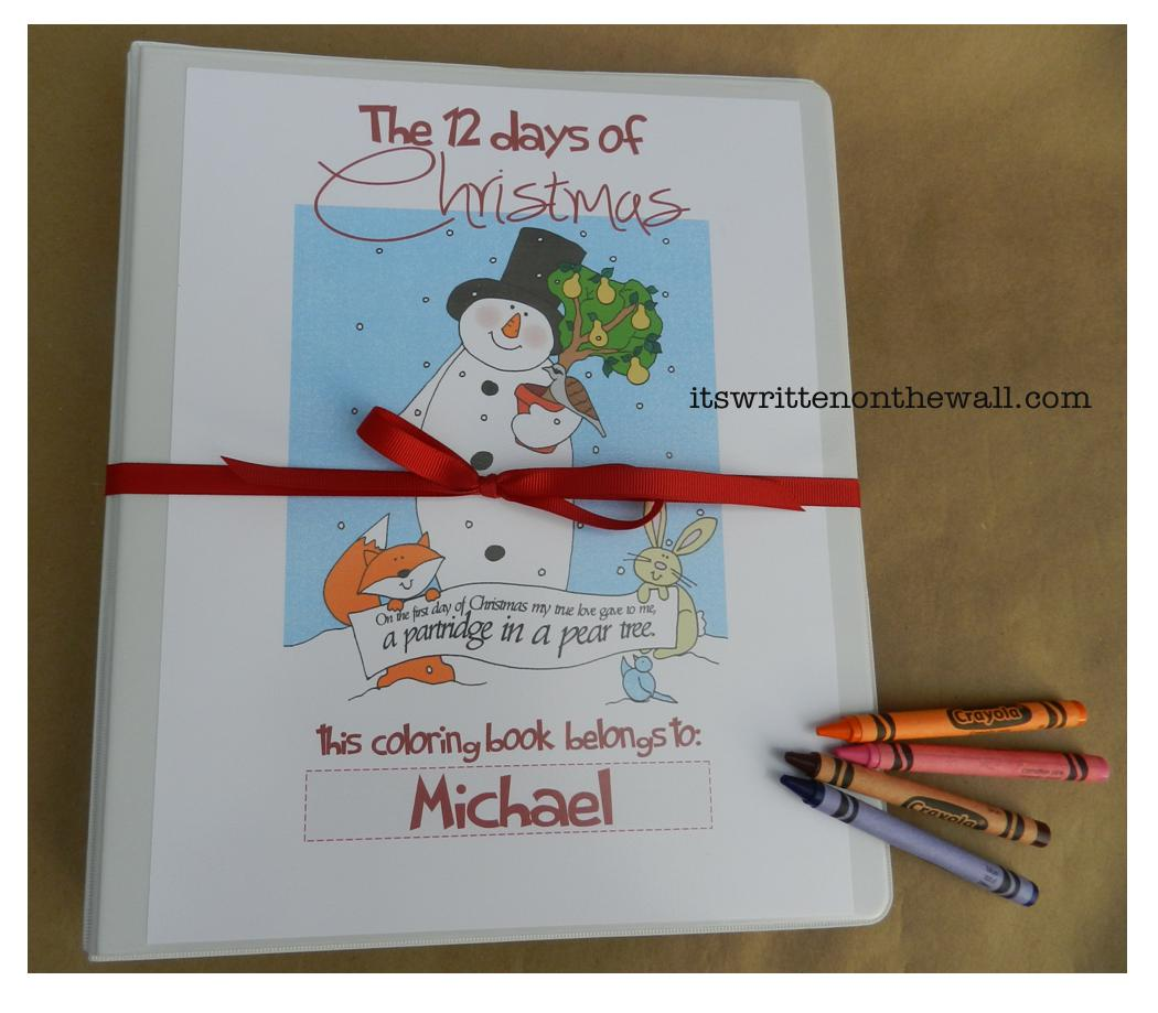 it u0027s written on the wall freebie christmas coloring book 12