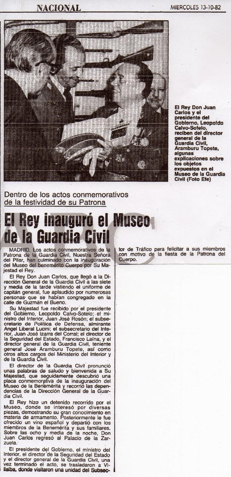 7a430f07fa LA GUARDIA CIVIL Y SU MUSEO
