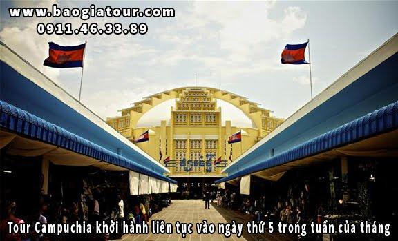 Tour Campuchia khởi hành liên tục vào ngày thứ 5 trong tuần của tháng 1