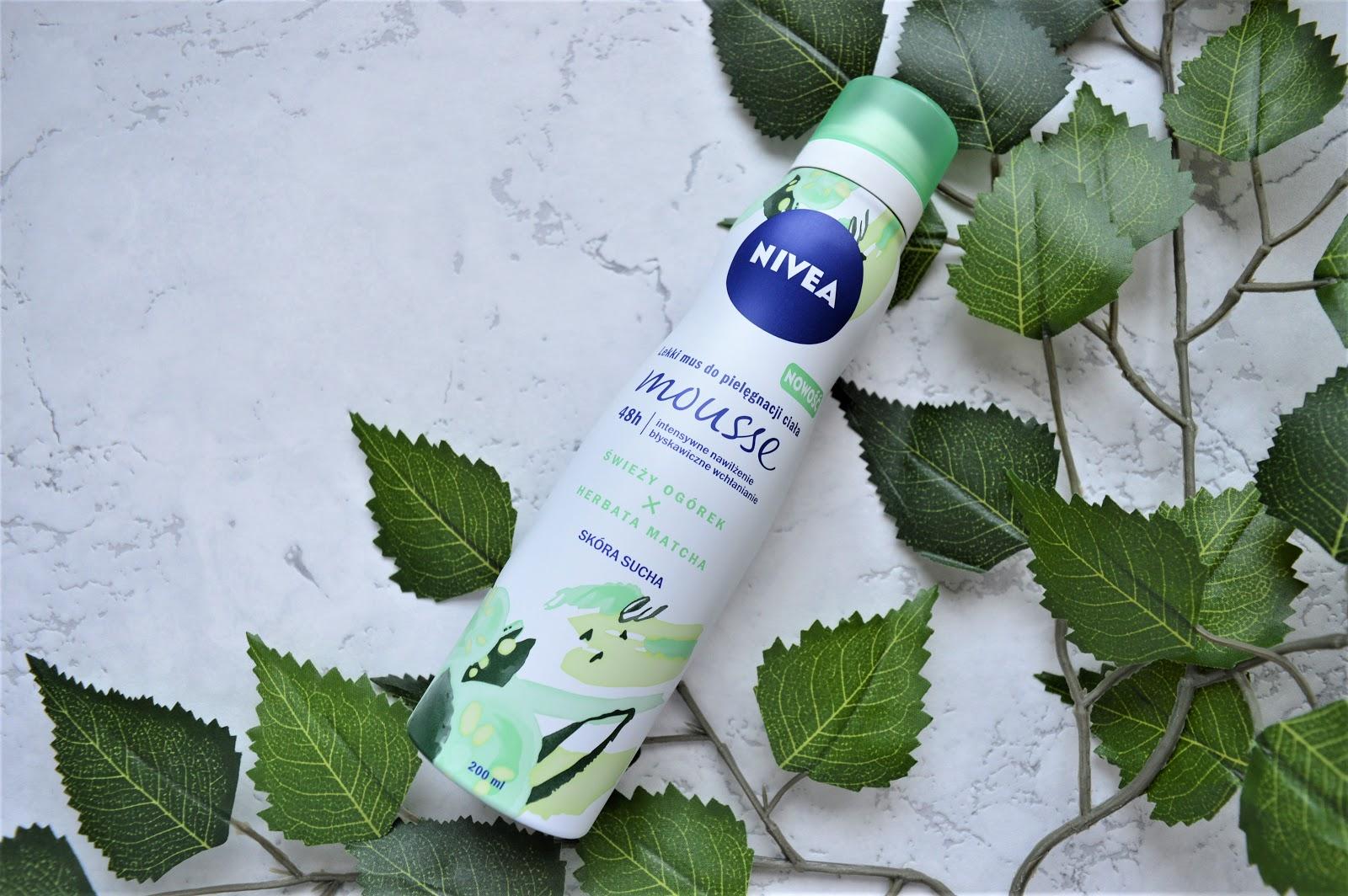 NIVEA Lekki mus do pielęgnacji ciała Świeży ogórek i Herbata Matha