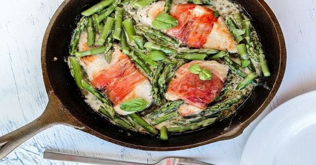 Prosciutto-Wrapped Chicken With Asparagus Recipe