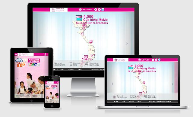 Thiết kế blog giới thiệu momo hoàng kim