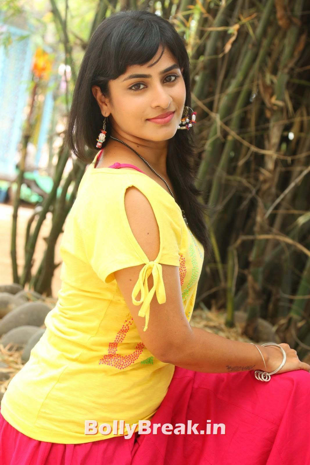 , Aparna Hot Pics - Latest Stills in Yellow Top, Red Skirt