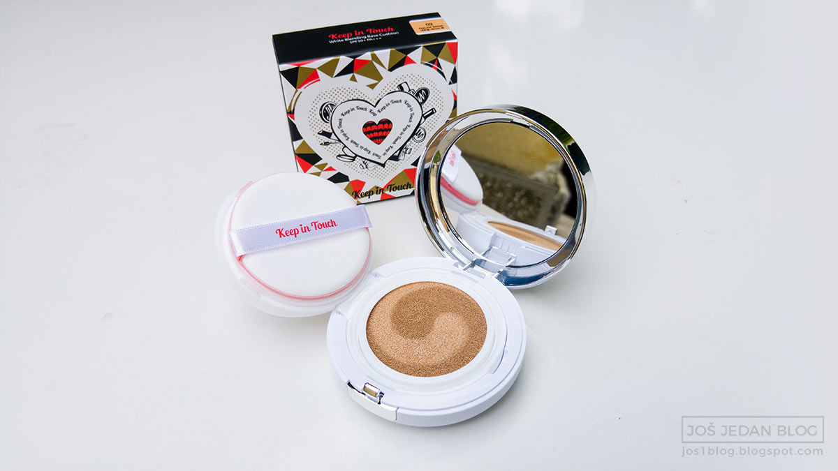 Keep In Touch White Blending Base cushion review with swatches in shade 03 Natural Beige