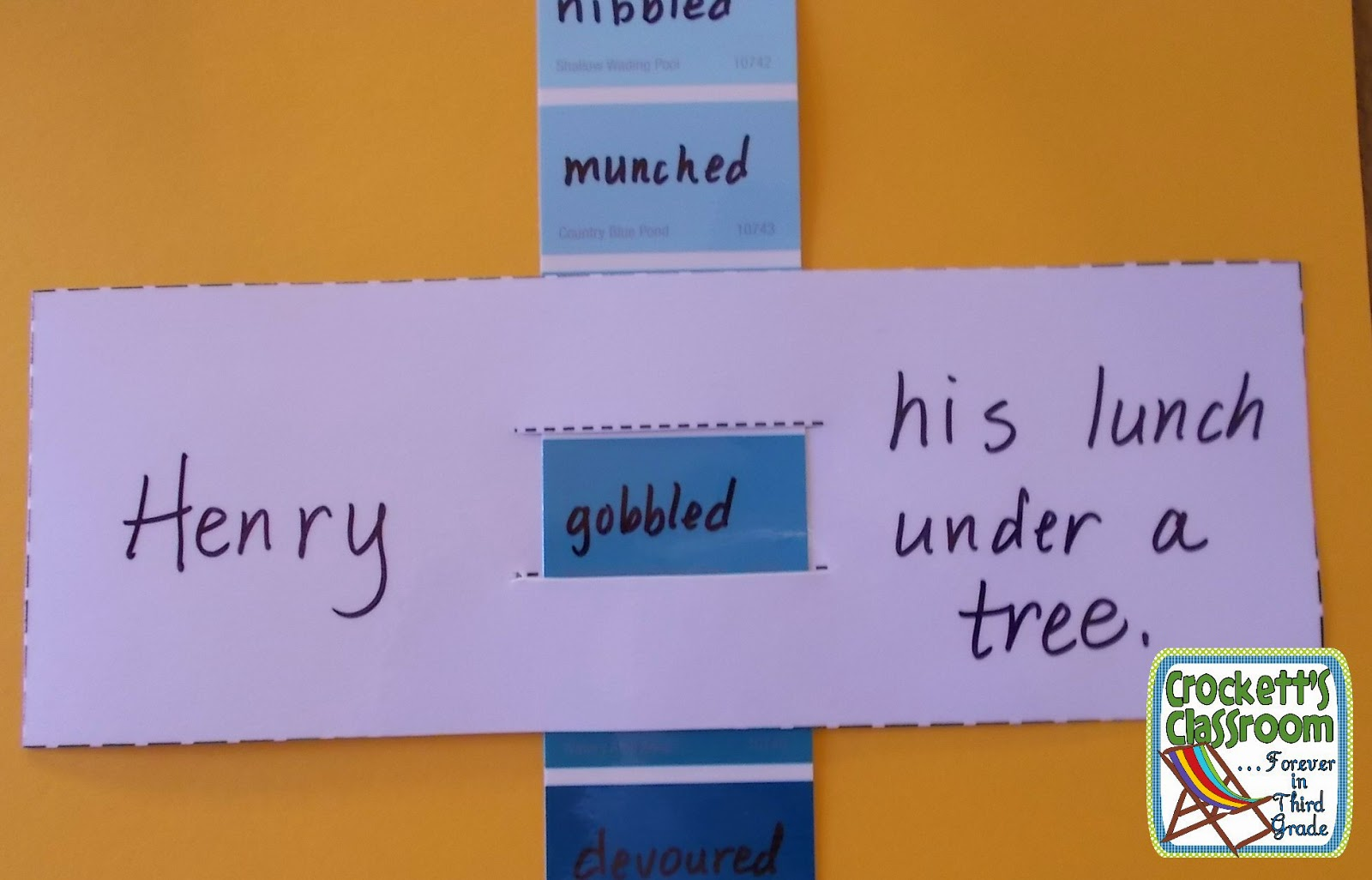 Using shades of meaning to revise student writing.---Crockett's Classroom