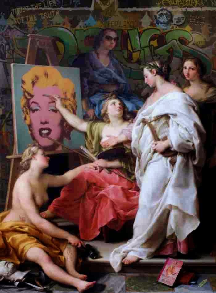 Картины-пародии. Marco Battaglini