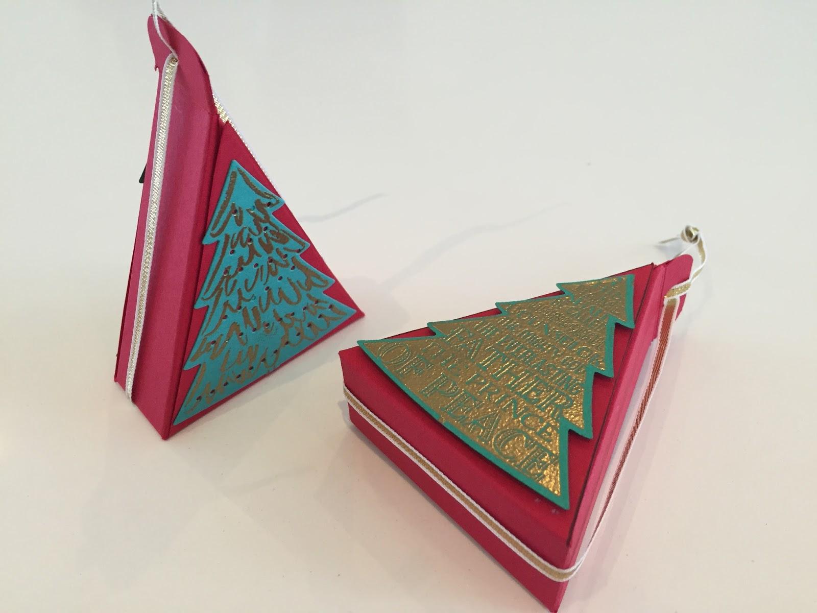 CraftyCarolineCreates: Triangular Christmas Tree Treat Box ...