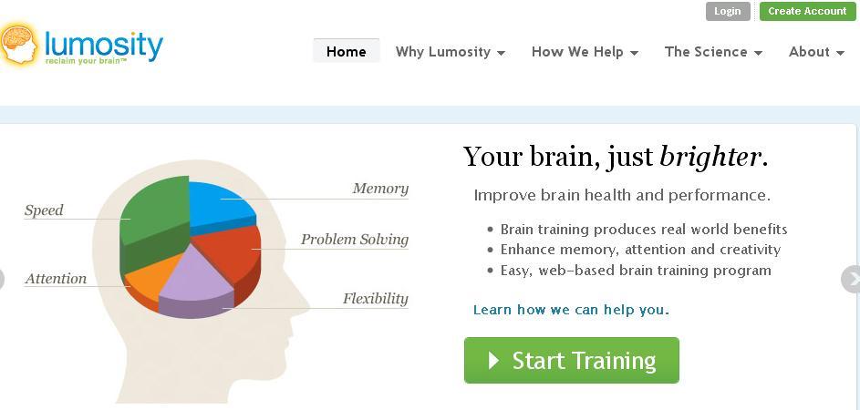 Welcome Back ~: Lumosity - Train your brain