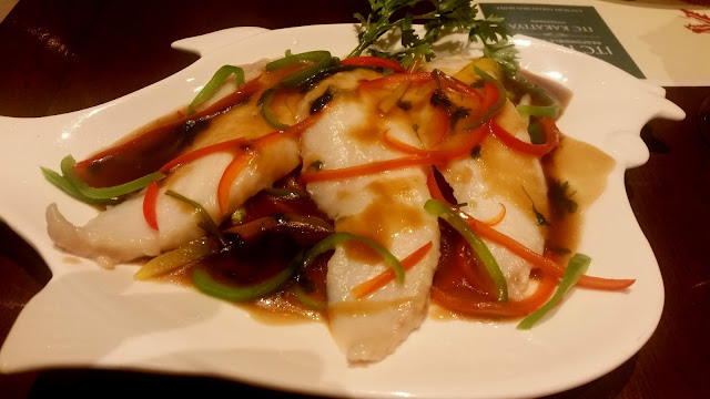 Steamed Fish with Bell Peppers