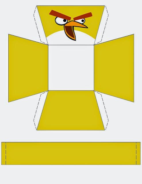 Angry Birds: Free Printable Baskets.