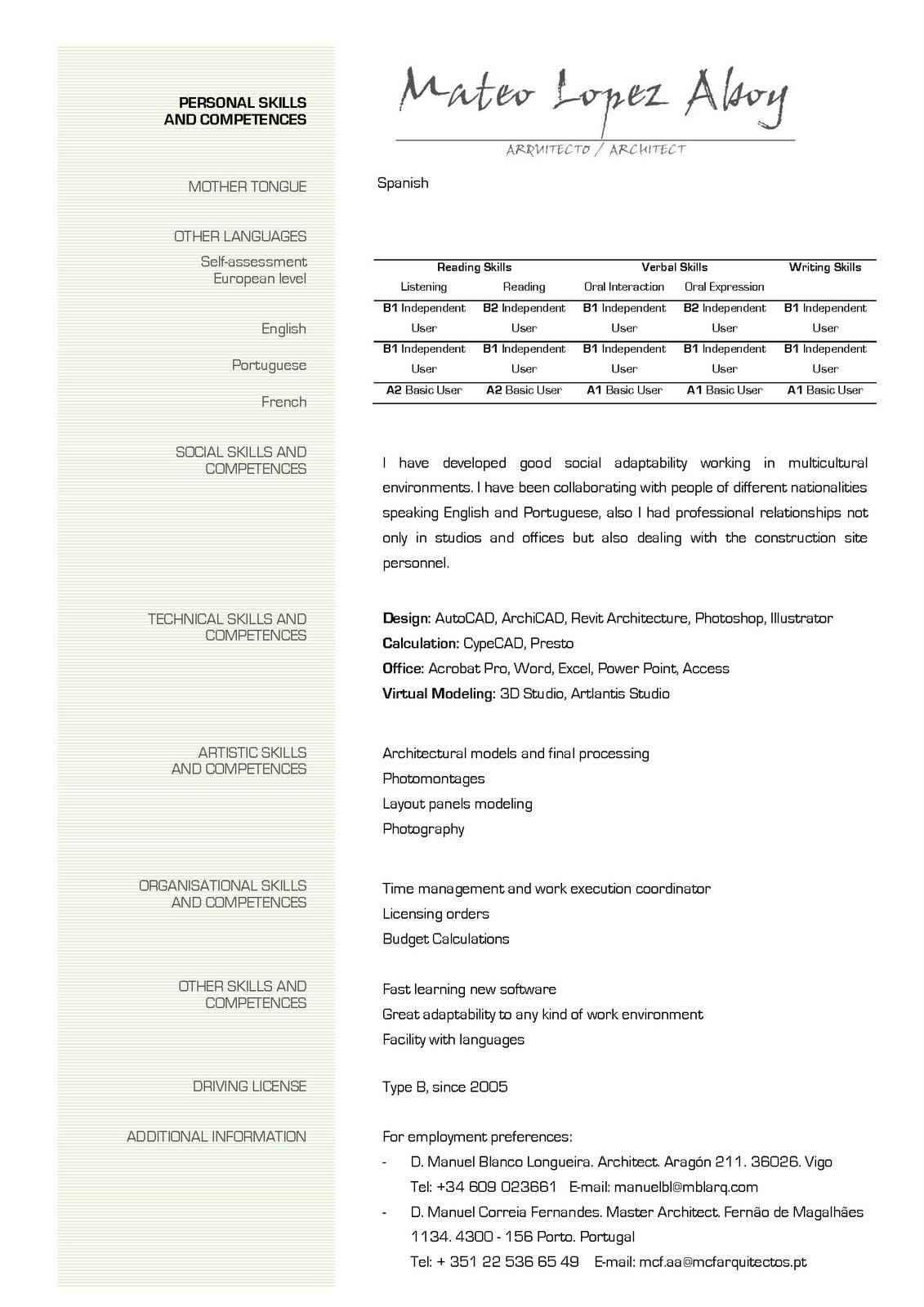 European Curriculum Vitae Format Ne Shqip