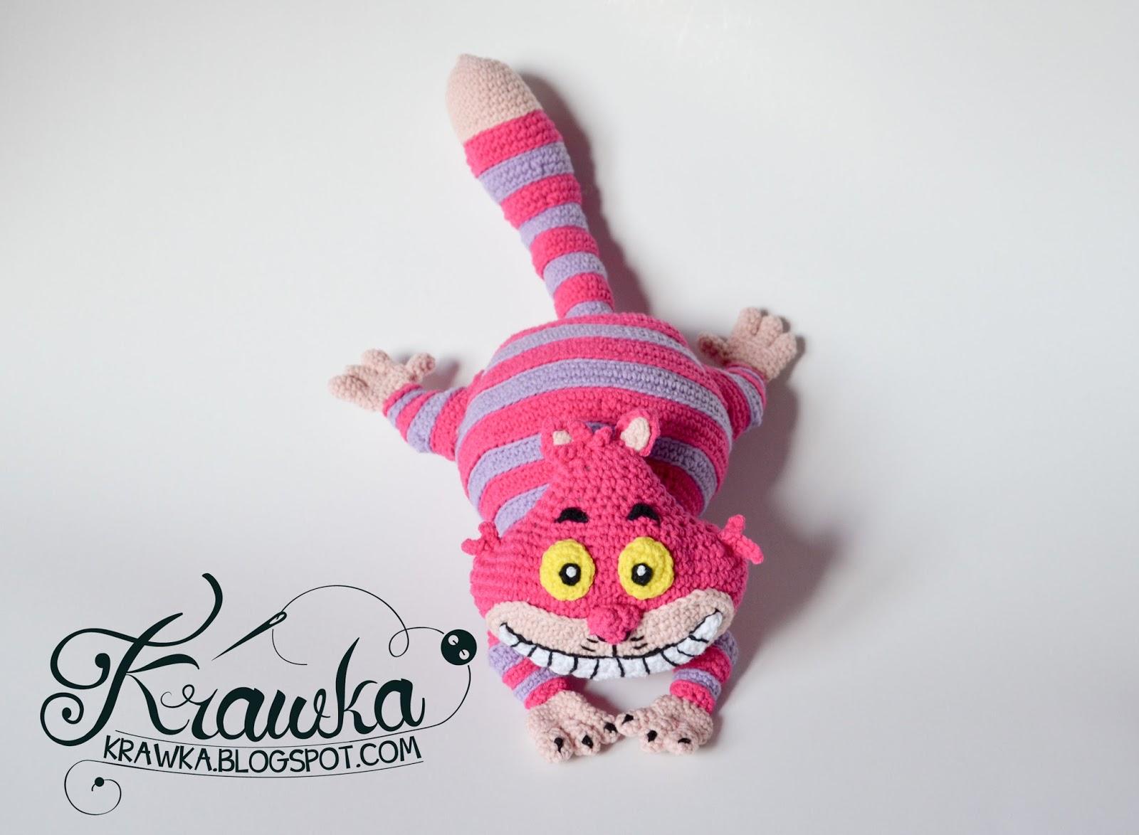 Cheshire Cat Amigurumi Pattern : Krawka: Cheshire cat is here