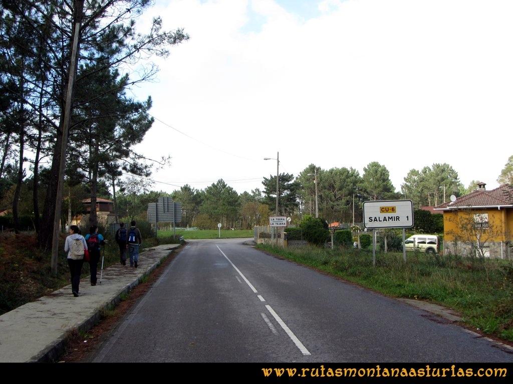Ruta Artedo, Lamuño, Valsera: Camino al área recreativa de Valsera