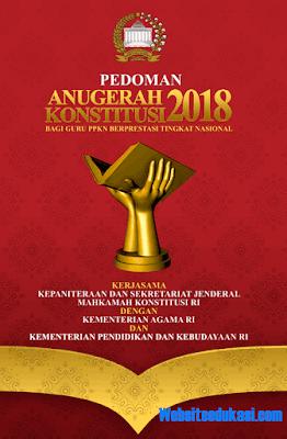 Pedoman Anugerah Konstitusi 2018 bagi Guru PPKn Berprestasi Tingkat Nasional
