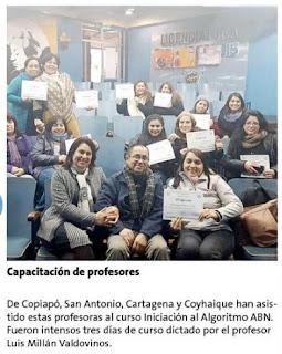Certificación del primer curso ABN, en Chile.