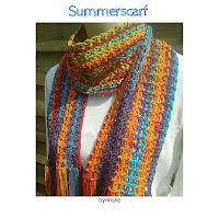 zomersjaal haakpatroon, summerscarf crochetpattern