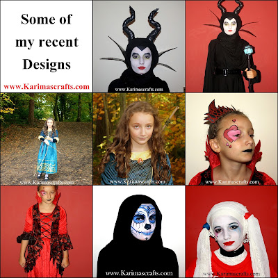 maleficent merida queen hearts harley quinn face paint painting