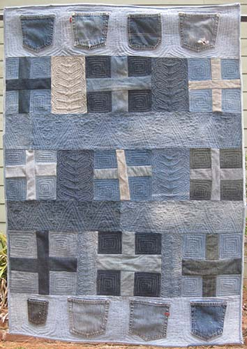 Gefilte Quilt: Blue Cross Jeans Quilt, (Part II): Quilting Tips ... : mid arm quilting - Adamdwight.com