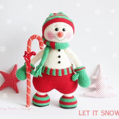 Снеговик схема амигуруми
