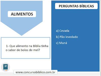 Perguntas Bíblicas alimentos