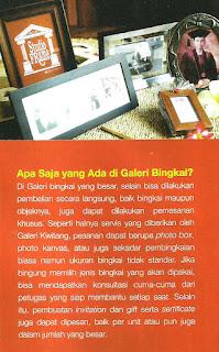 Apa saja yang ada di Gallery Bingkai