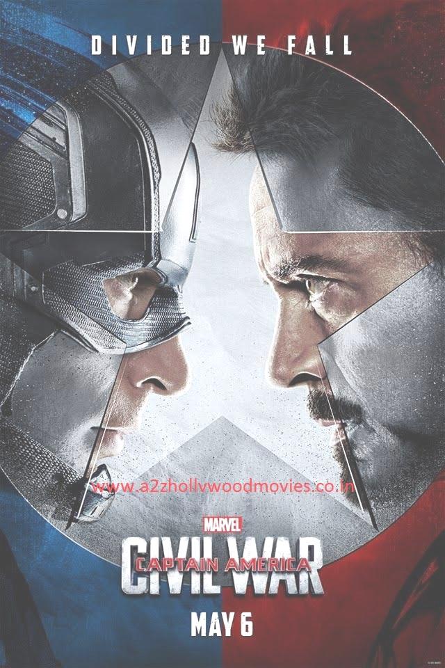 Captain America Civil War (2016) Hollywood Movie Poster