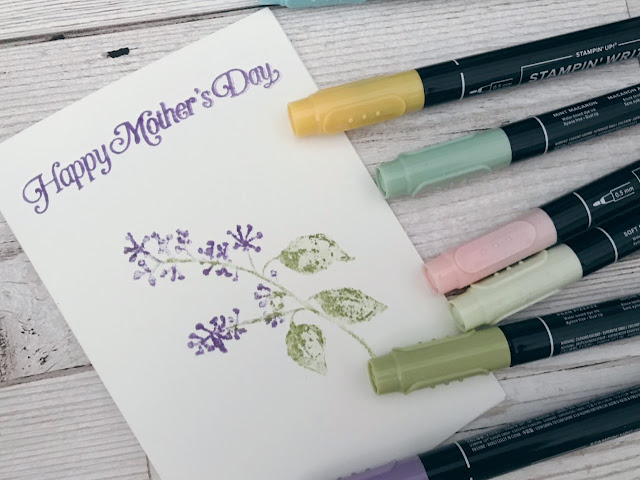 Handmade stamped Mother's Day card