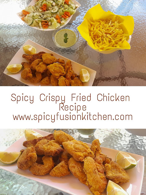 Spicy food, fried food, fried chicken, chicken licken, fried chicken recipe, cooking, cooking video, food, food blog, food blogger, food recipe, food video, comfort food, fusion food, spicy recipe, food pictures, crispy fried chicken, calisto, calisto spices, robertson spices, chutney, salad, summer, home made fried chicken, fried chicken pictures, pinterest food, spicy fusion kitchen, pin it